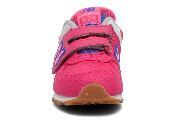 Baskets New Balance KG574 I Rose vue portées chaussures