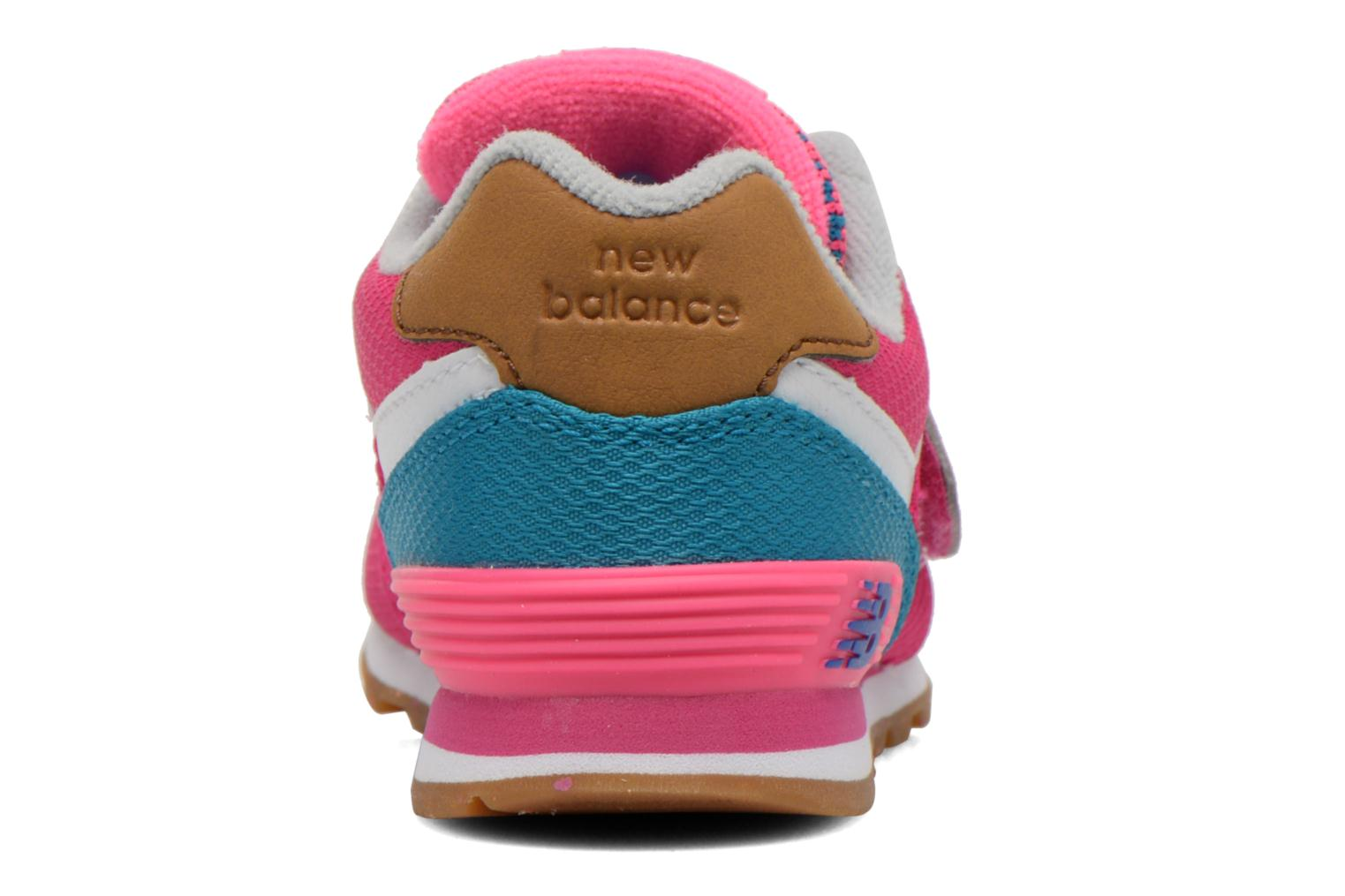 Trainers New Balance KG574 I Pink view from the right