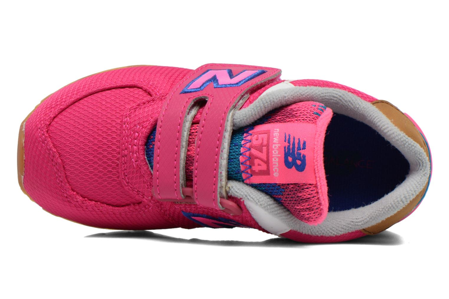 Trainers New Balance KG574 I Pink view from the left