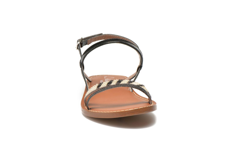 Sandales et nu-pieds L'Atelier Tropézien Laurette Noir vue portées chaussures