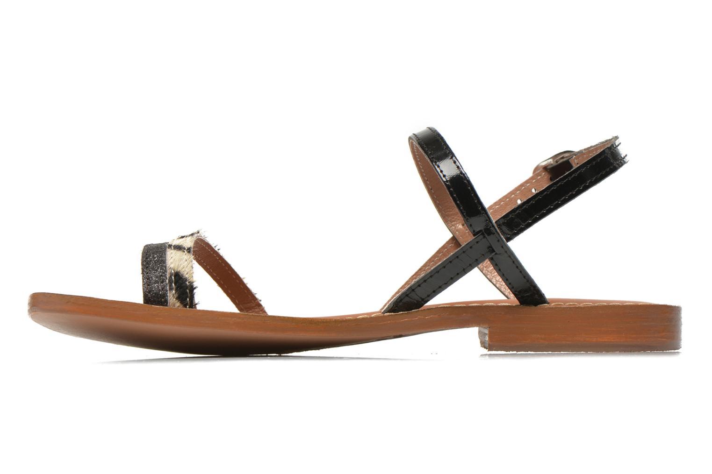 Sandales et nu-pieds L'Atelier Tropézien Laurette Noir vue face