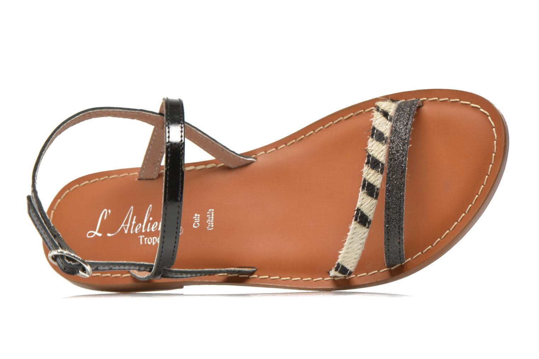 Sandales et nu-pieds L'Atelier Tropézien Laurette Noir vue gauche