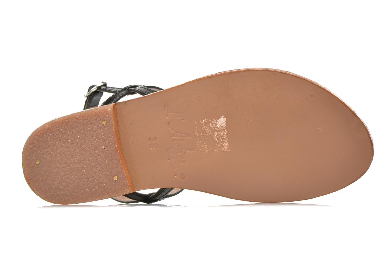 Sandales et nu-pieds L'Atelier Tropézien Laurette Noir vue haut
