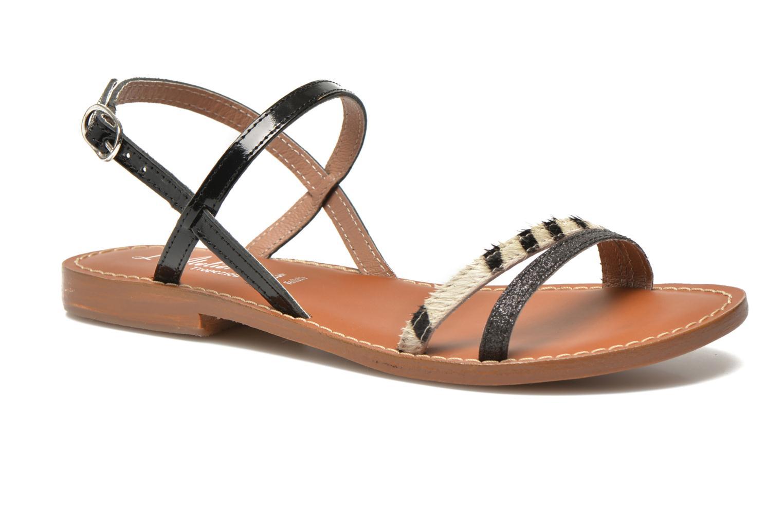 Sandales et nu-pieds L'Atelier Tropézien Laurette Noir vue détail/paire