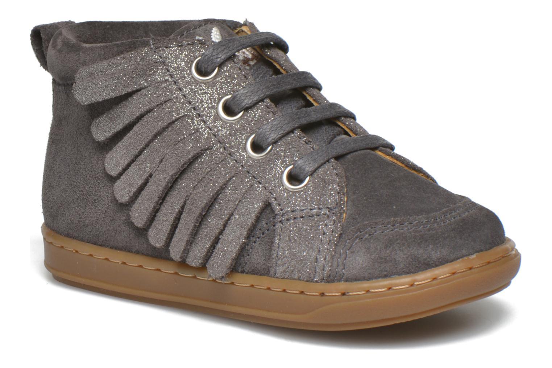 Bottines et boots Shoo Pom Bouba Lace Fringe Gris vue détail/paire