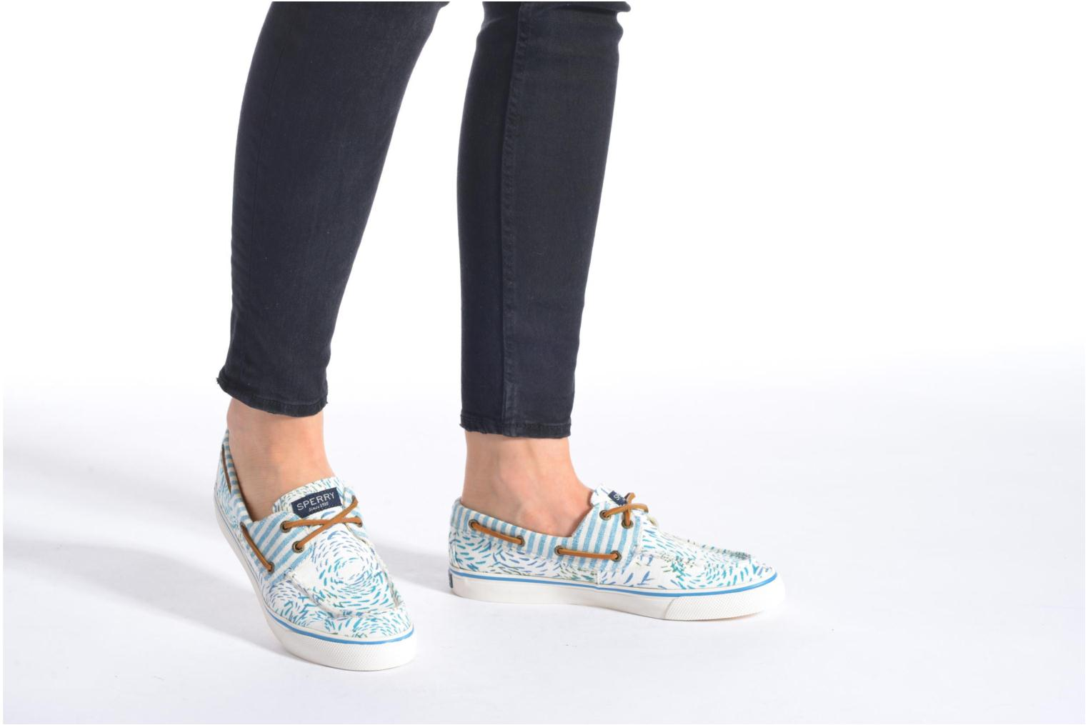 Lace-up shoes Sperry Bahama Fish Circles Blue view from underneath / model view