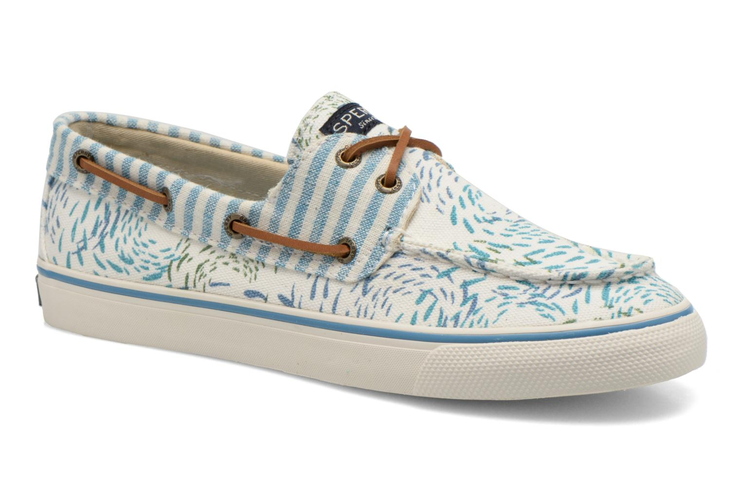 Lace-up shoes Sperry Bahama Fish Circles Blue detailed view/ Pair view