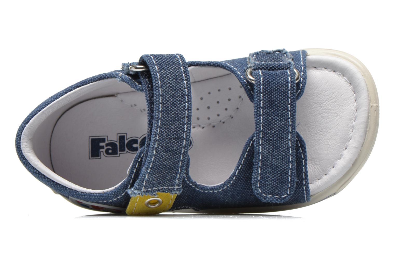 Sandalias Naturino Rafaele 1270 Azul vista lateral izquierda