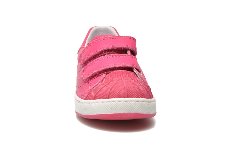 Baskets Naturino Diamante 4064 VL Rose vue portées chaussures