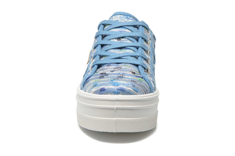 Azul Victoria Basket Puntos Brillo Plataf Kids (Bleu)