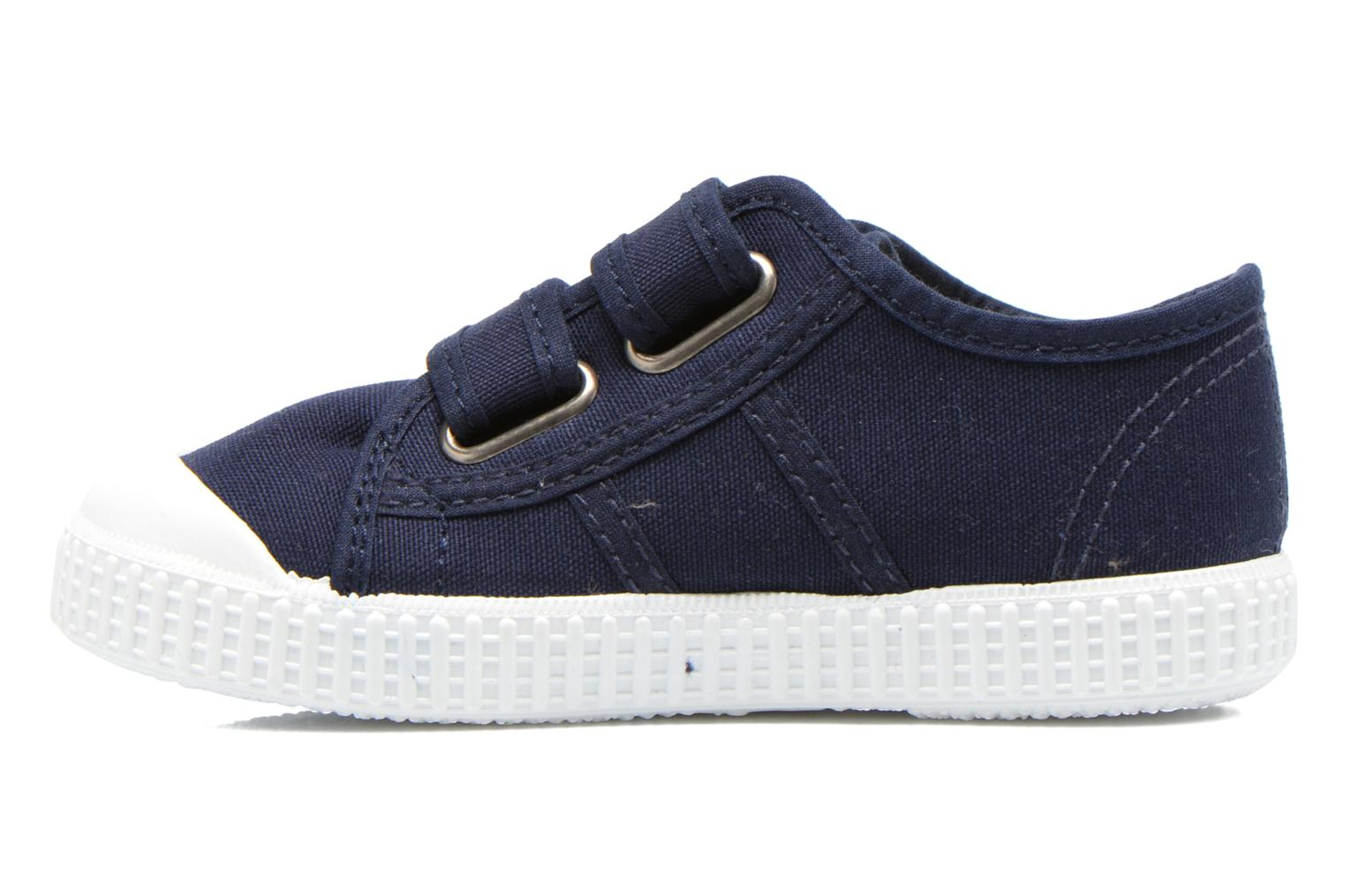 Trainers Victoria Basket lona Dos Velcos Blue front view