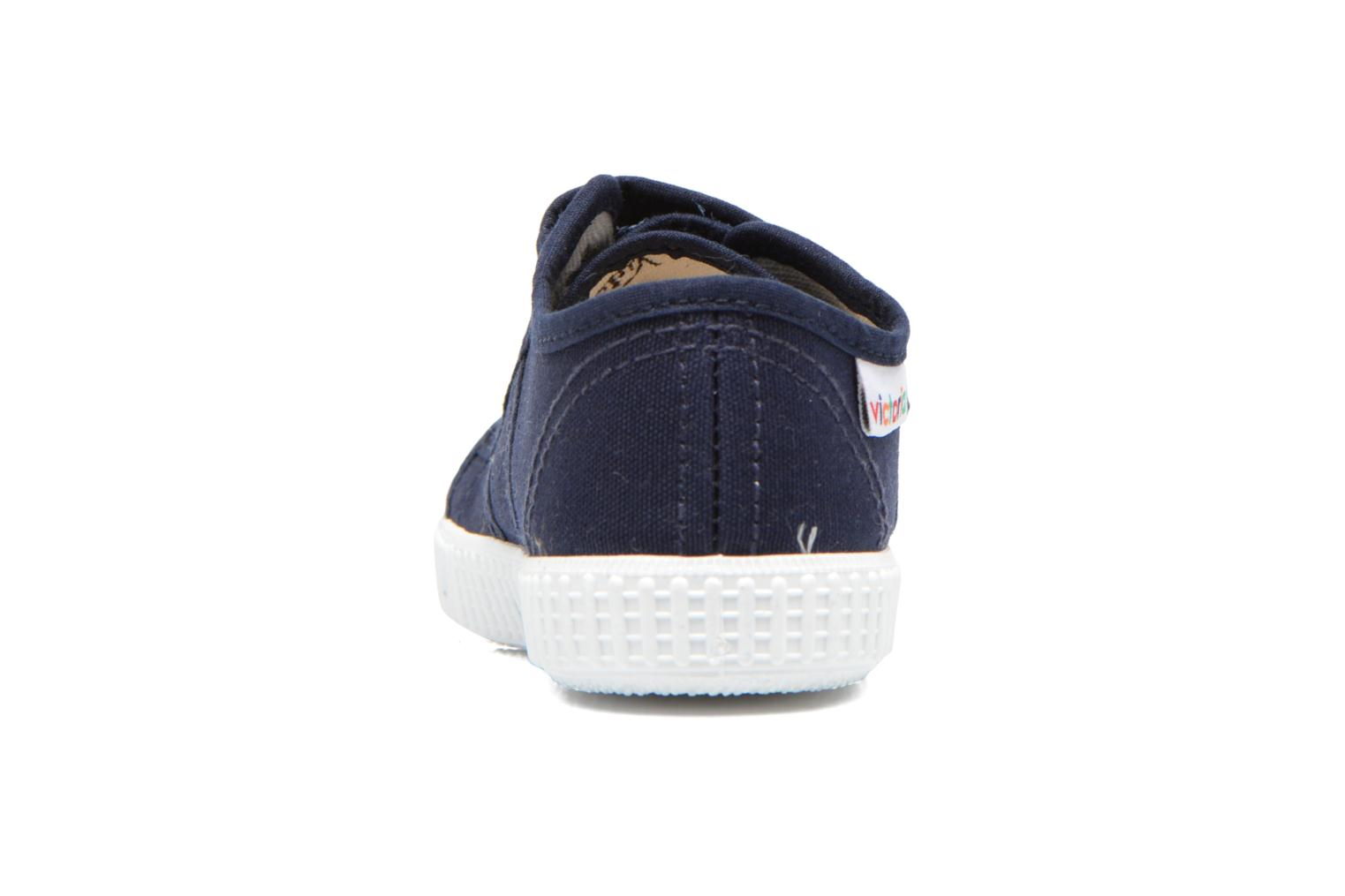 Trainers Victoria Basket lona Dos Velcos Blue view from the right
