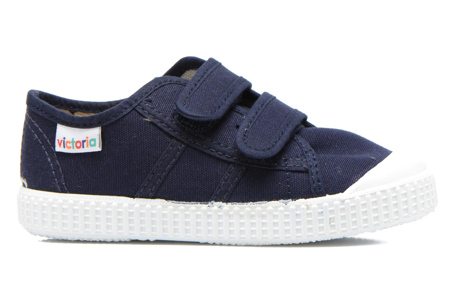 Trainers Victoria Basket lona Dos Velcos Blue back view