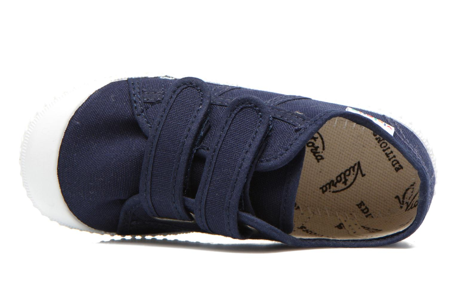 Trainers Victoria Basket lona Dos Velcos Blue view from the left