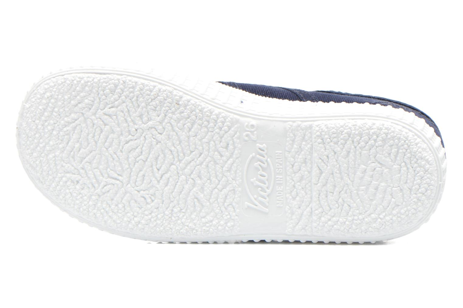 Trainers Victoria Basket lona Dos Velcos Blue view from above