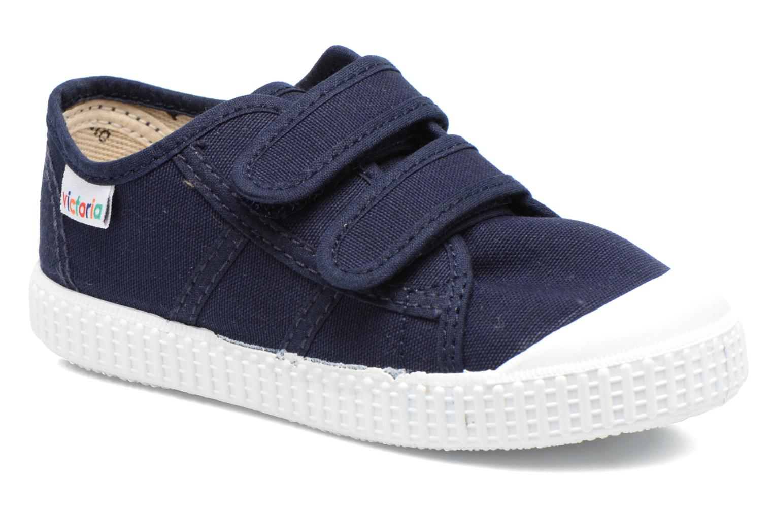 Trainers Victoria Basket lona Dos Velcos Blue detailed view/ Pair view