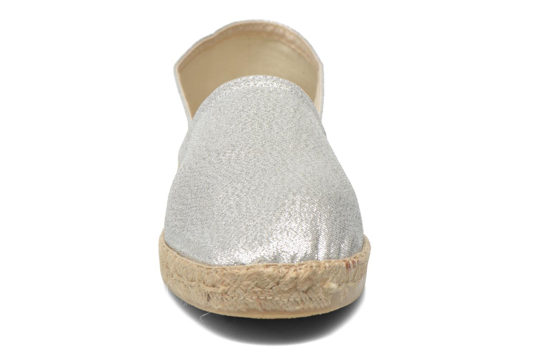Espadrilles La maison de l'espadrille Espadrille 324 Vals Argent vue portées chaussures