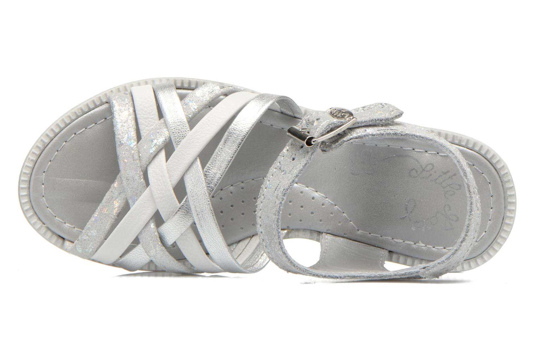 Sandales et nu-pieds Little Mary Vacances Argent vue gauche
