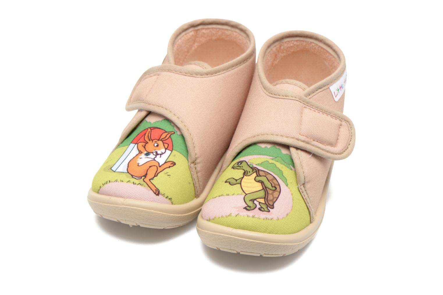 Chaussons Little Mary Vtortue Beige vue 3/4