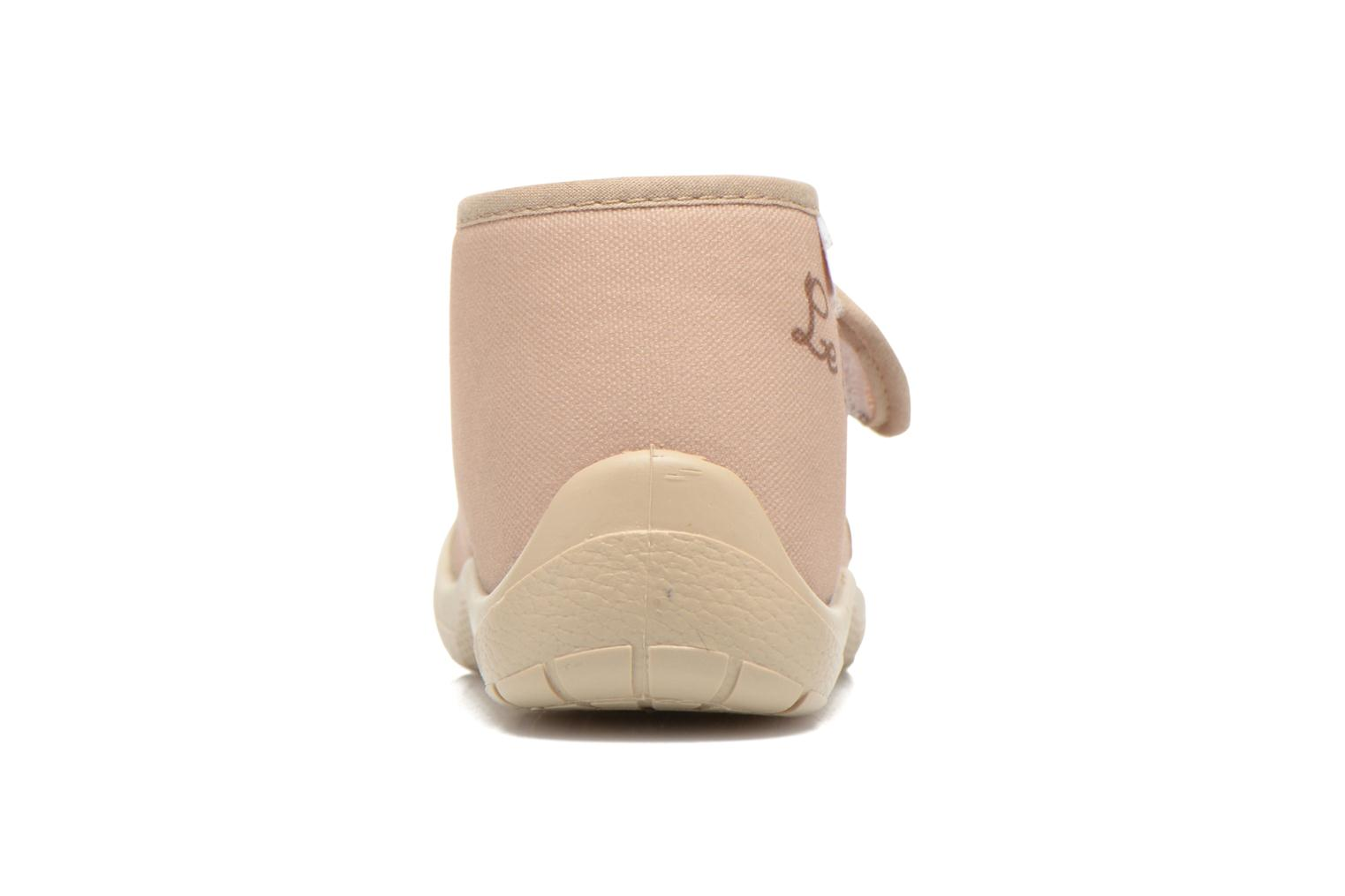Pantuflas Little Mary Vtortue Beige vista lateral derecha