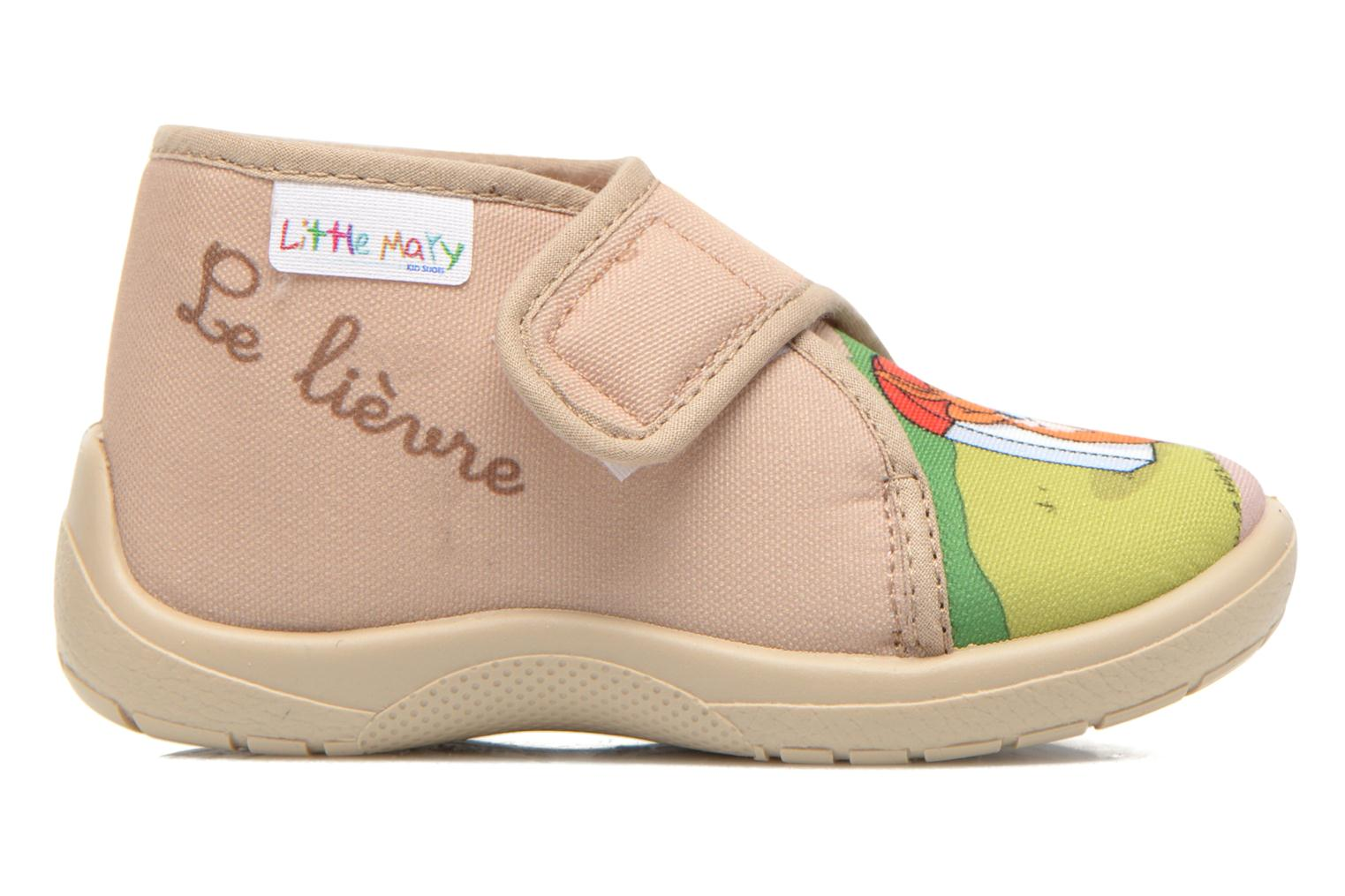 Pantuflas Little Mary Vtortue Beige vistra trasera
