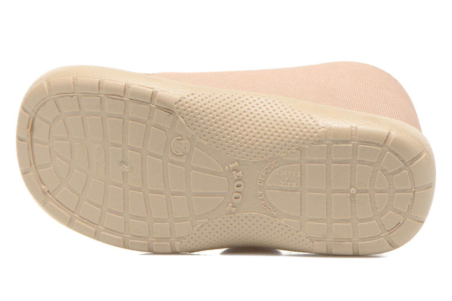 Pantuflas Little Mary Vtortue Beige vista de arriba