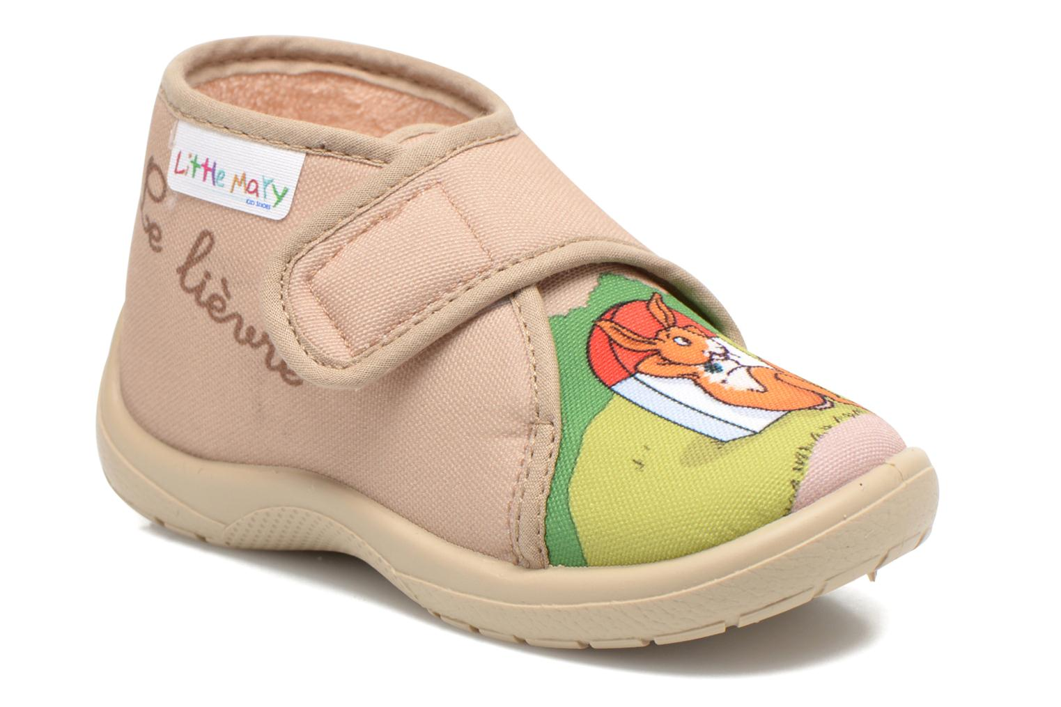 Pantuflas Little Mary Vtortue Beige vista de detalle / par