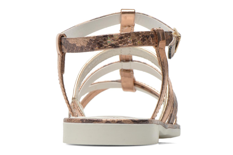 Sandales et nu-pieds Primigi Luz Or et bronze vue droite