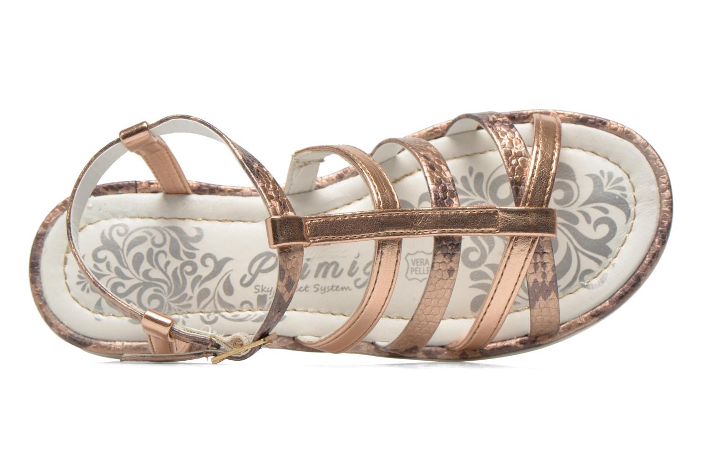 Sandales et nu-pieds Primigi Luz Or et bronze vue gauche