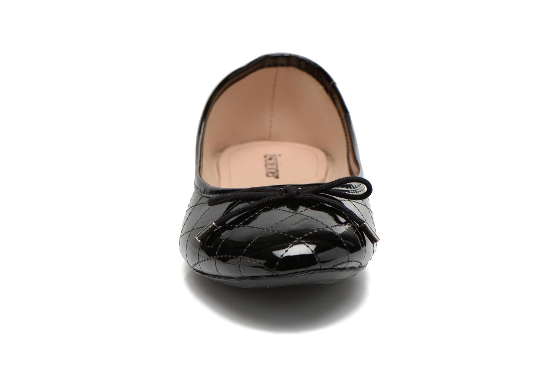 Ballerine bout rond surpiqué talon 1cm Noir