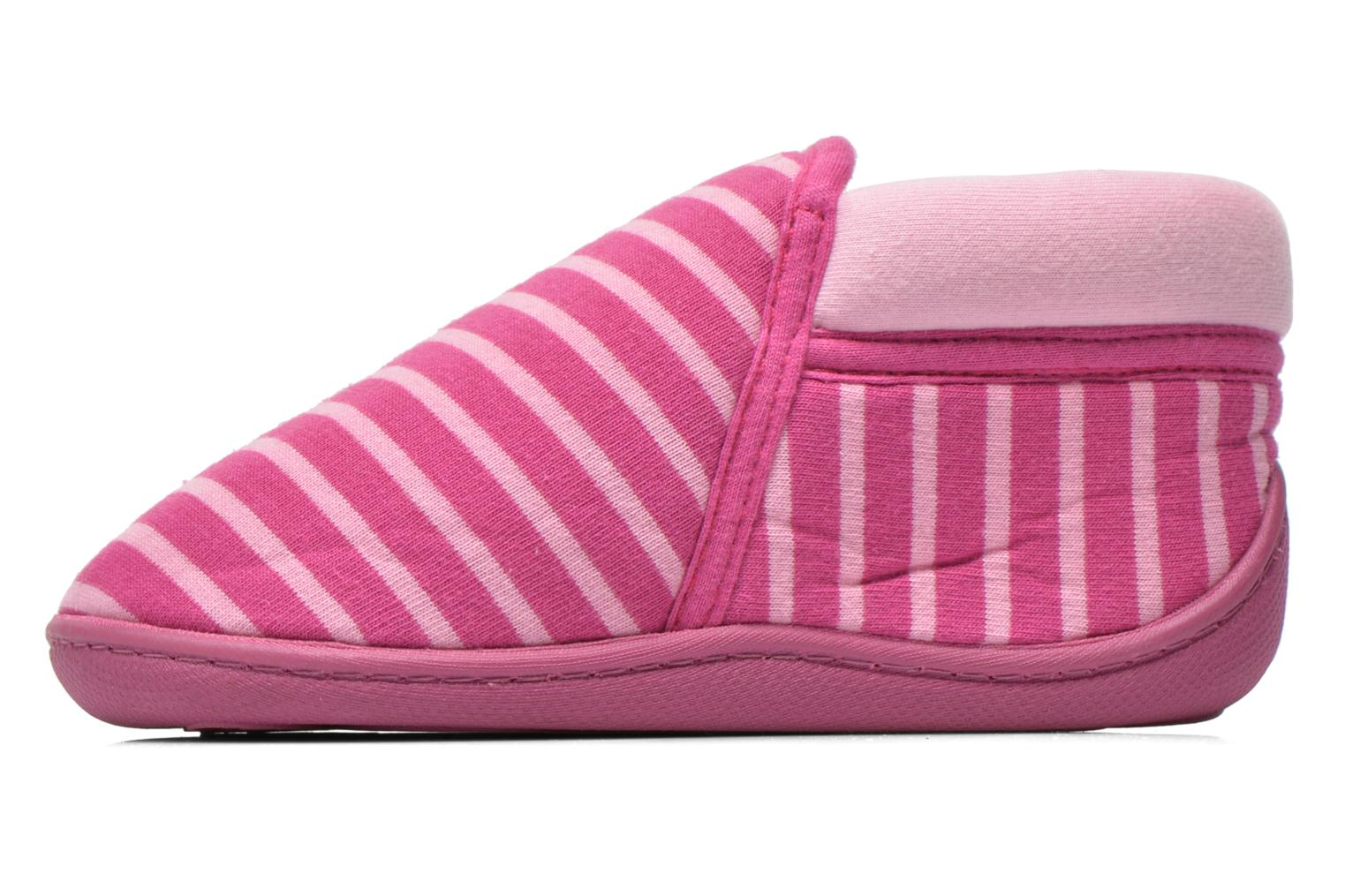 Chaussons Isotoner Botillon Zip Jersey Rose vue face