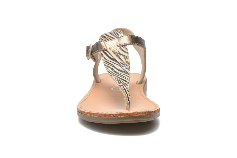 Sandales et nu-pieds Minibel Klarice Or et bronze vue portées chaussures