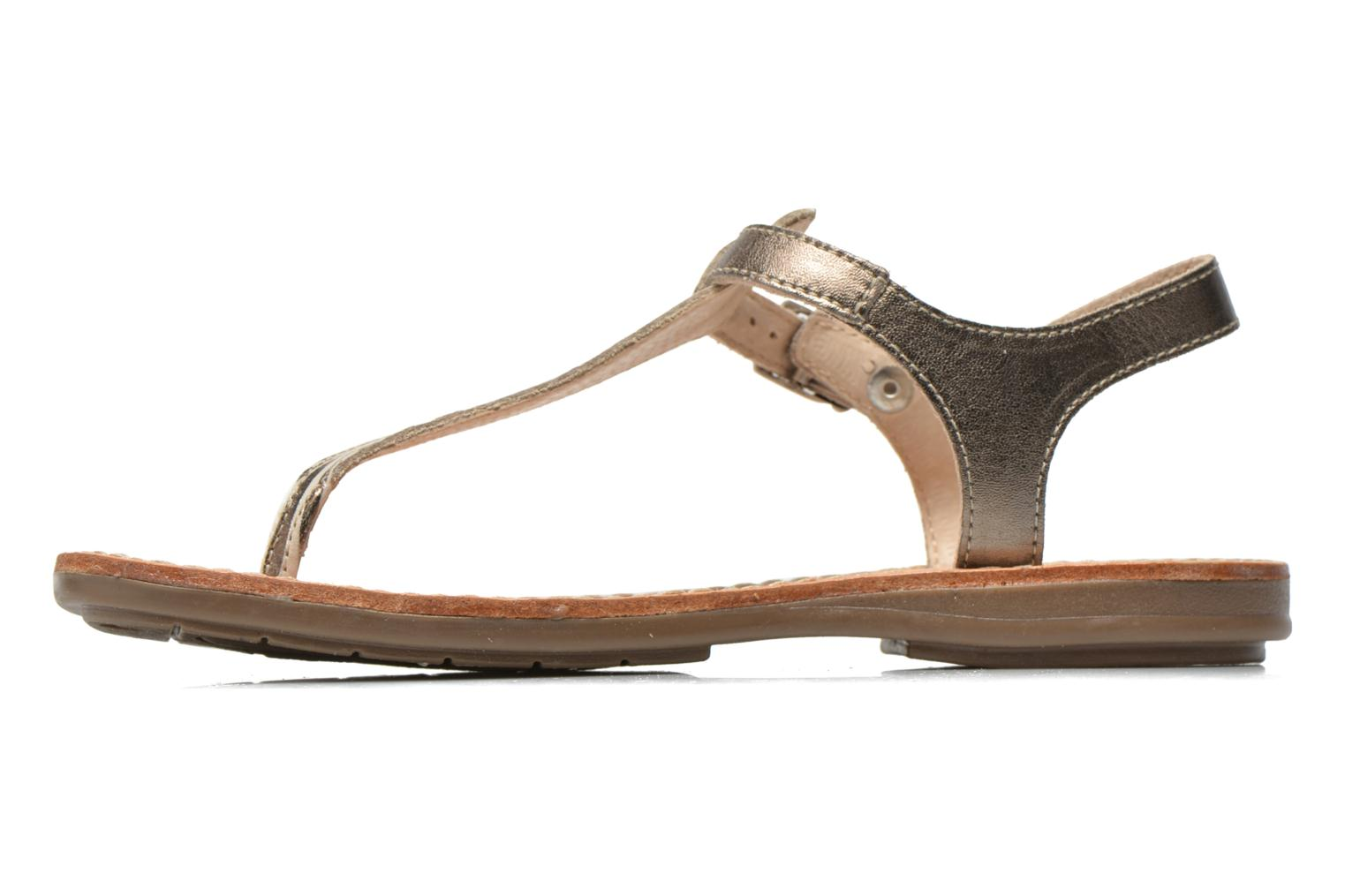 Sandals Minibel Klarice Bronze and Gold front view