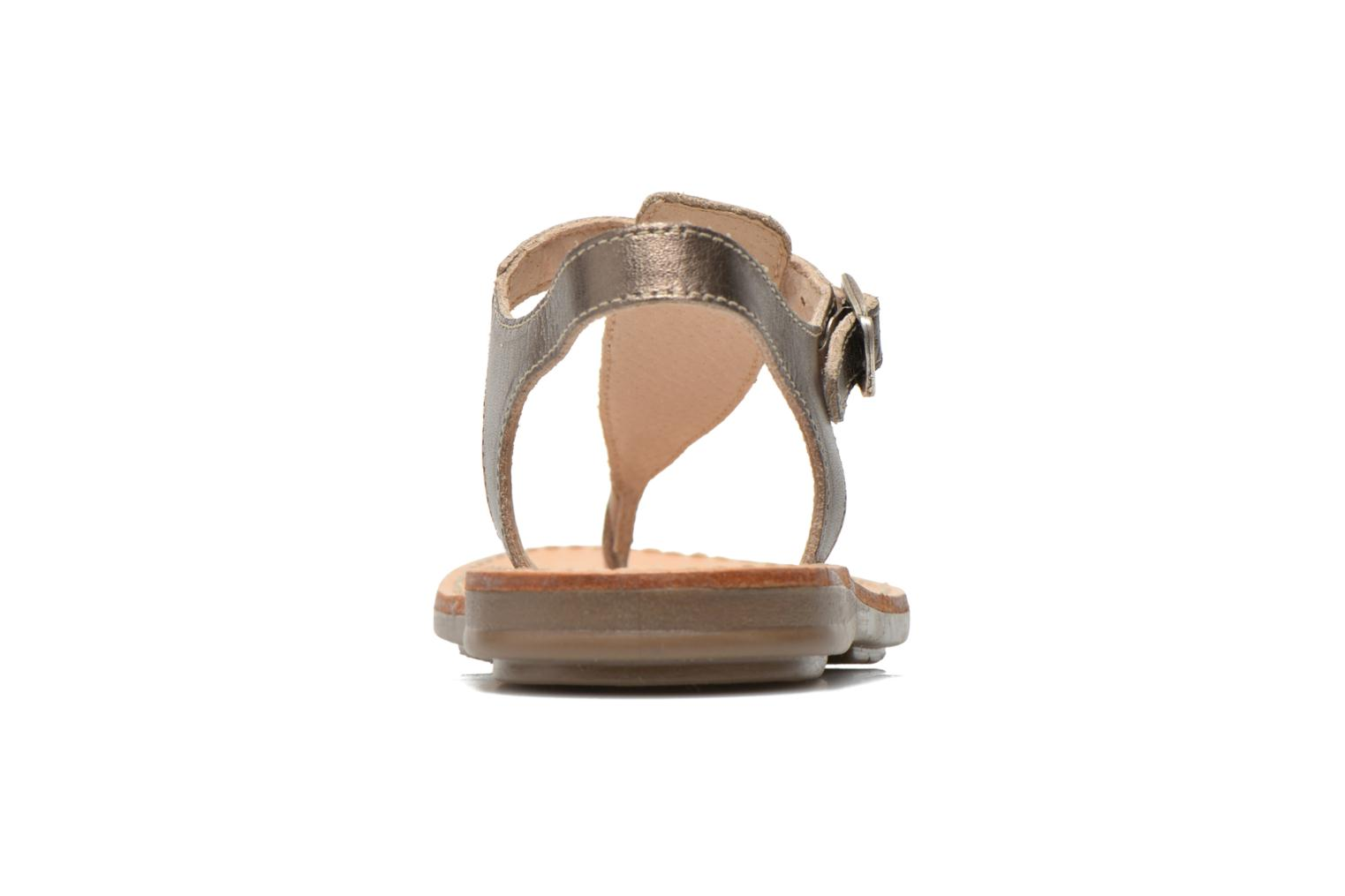 Sandals Minibel Klarice Bronze and Gold view from the right