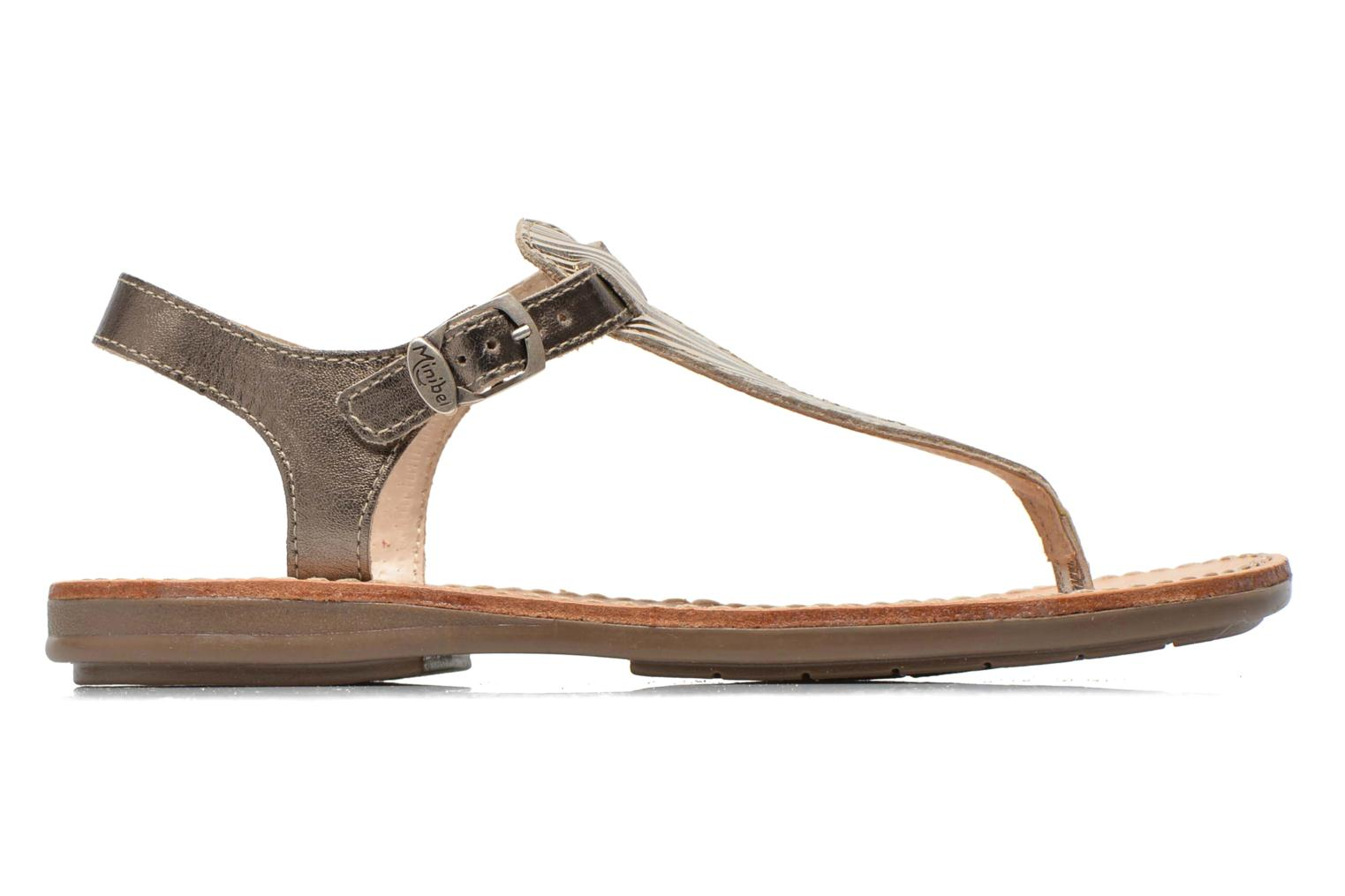 Sandals Minibel Klarice Bronze and Gold back view