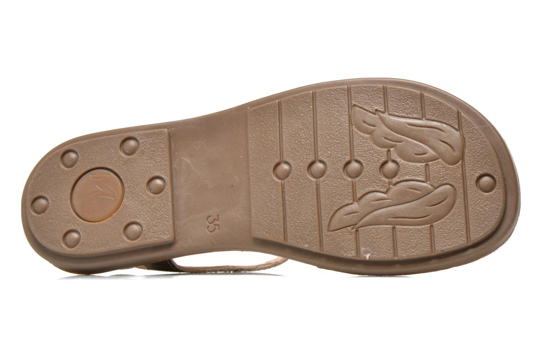 Sandales et nu-pieds Minibel Klarice Or et bronze vue haut