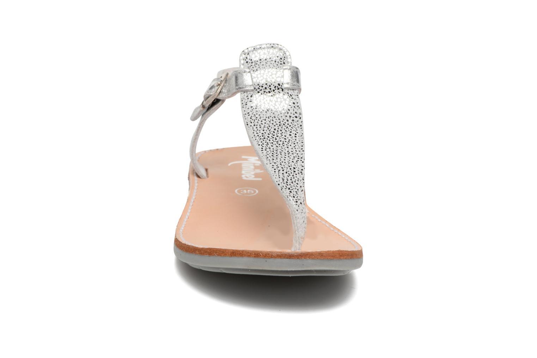 Sandales et nu-pieds Minibel Klarice Argent vue portées chaussures