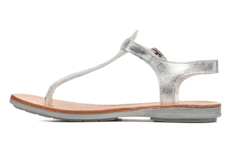 Sandales et nu-pieds Minibel Klarice Argent vue face