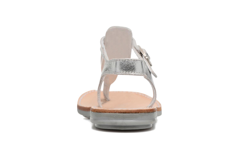 Sandales et nu-pieds Minibel Klarice Argent vue droite