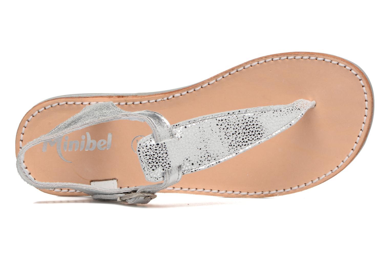 Sandales et nu-pieds Minibel Klarice Argent vue gauche