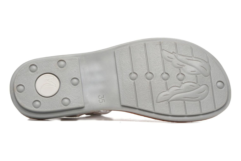 Sandales et nu-pieds Minibel Klarice Argent vue haut