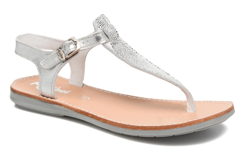 Sandales et nu-pieds Minibel Klarice Argent vue détail/paire