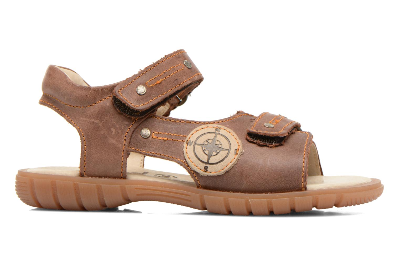 Sandals Minibel Kilian Brown back view