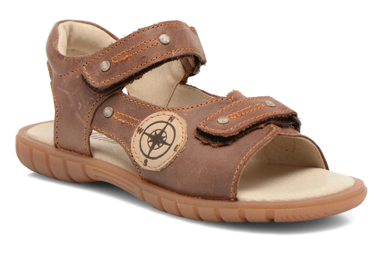 Sandals Minibel Kilian Brown detailed view/ Pair view