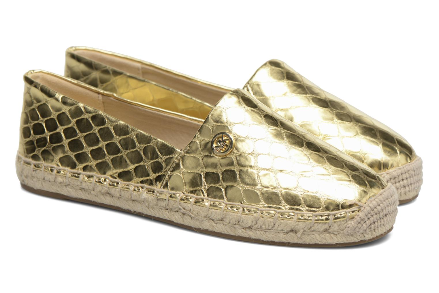 Espadrilles Michael Michael Kors Kendrick slip on Bronze and Gold 3/4 view