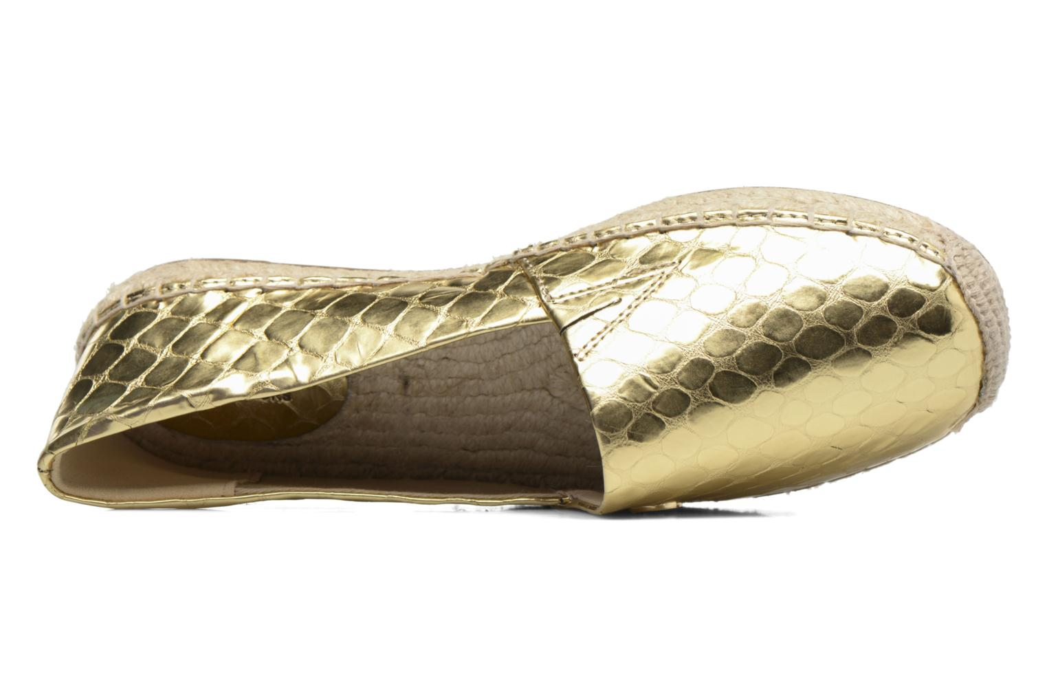 Espadrilles Michael Michael Kors Kendrick slip on Bronze and Gold view from the left