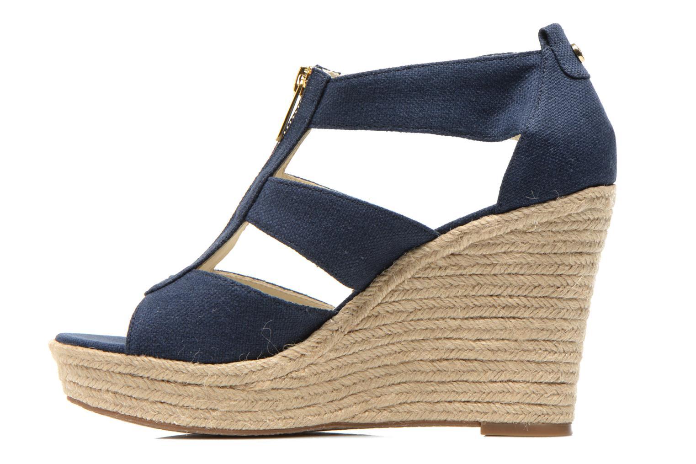 Sandales et nu-pieds Michael Michael Kors Damita Wedge Bleu vue face
