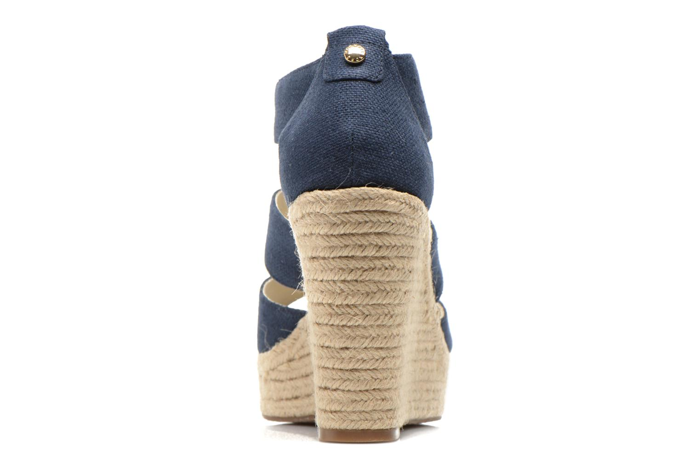 Sandales et nu-pieds Michael Michael Kors Damita Wedge Bleu vue droite