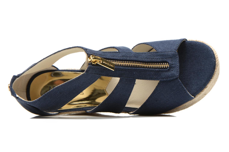 Sandales et nu-pieds Michael Michael Kors Damita Wedge Bleu vue gauche
