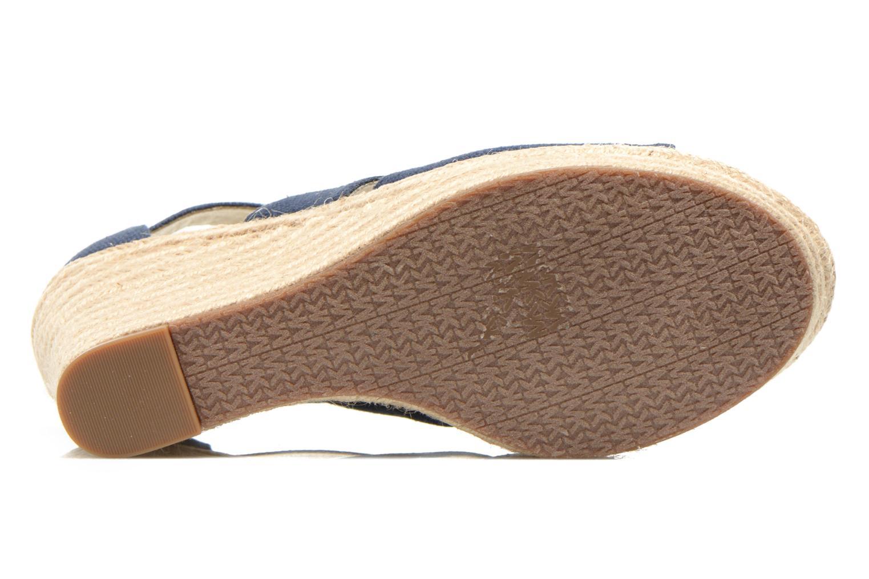 Sandales et nu-pieds Michael Michael Kors Damita Wedge Bleu vue haut